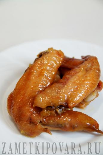 Куриные крылышки в медово-лимонном соусе