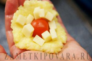 Рисовые шарики с помидорами