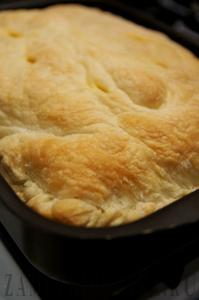 Слоеный пирог с семгой и омлетом