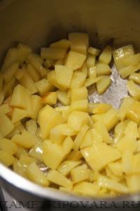 Кукурузный суп-пюре с острой заправкой