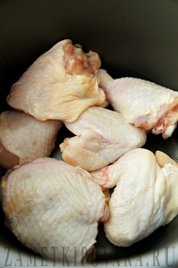 Курица, тушенная в сметане и кленовом сиропе