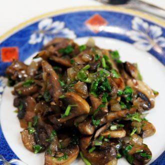 Жареные грибы с тархуном