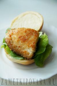 Гамбургер с рыбой - Фишбургер