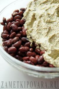 Ачапа - закуска из фасоли и орехов