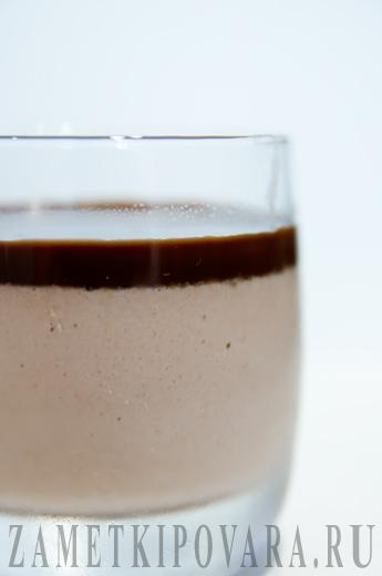 Шоколадная панакота с шоколадным кремом