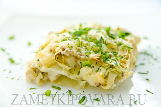 Гратен из капусты с сыром