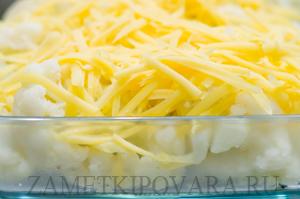 Цветная капуста в сырном соусе