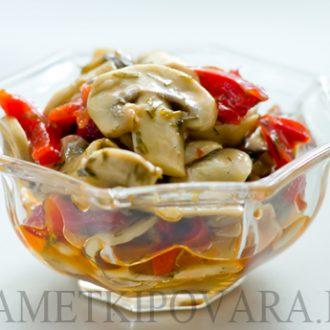 Закуска из грибов с болгарским перцем