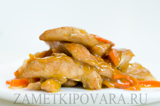 Жареное филе курицы по-китайски