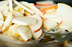Кус-кус с яблоками и брусникой