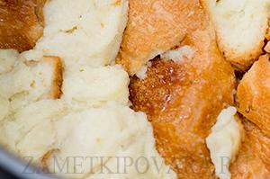 Хлебная запеканка с вишней