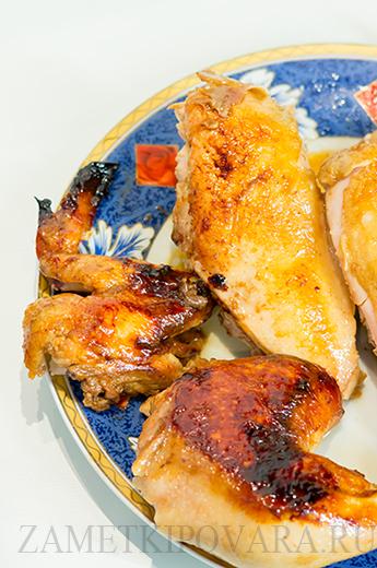 Запеченная курица в медовом соусе