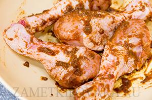 Запеченные куриные голени по-кавказски