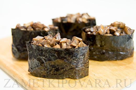 Суши Гункан с грибами
