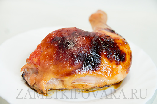 Запеченная курица с грейпфрутом