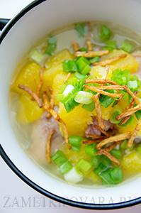 Китайский суп с уткой и апельсинами