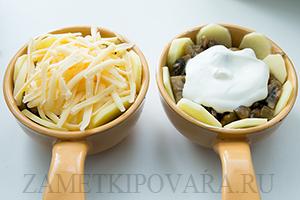 Грибы, запеченные в хрустящем картофеле