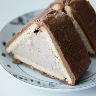Торт-домик из печенья с творогом