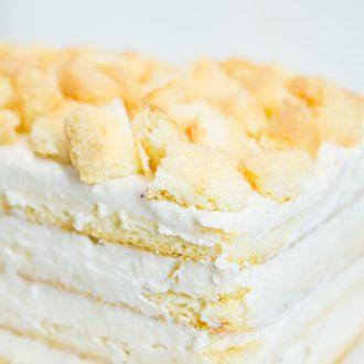 Легкий творожный тортик