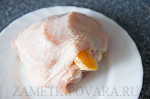 Запеченные куриные бедра с мандаринами