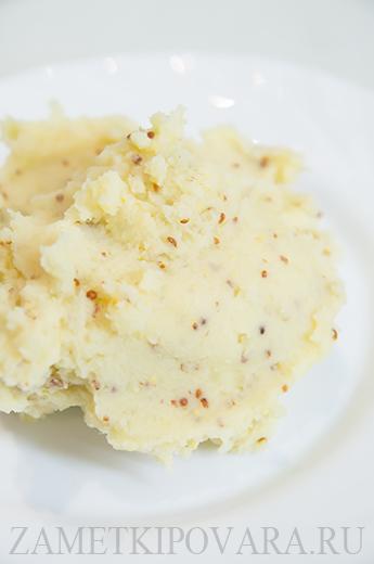 Картофельное пюре с зерновой горчицей