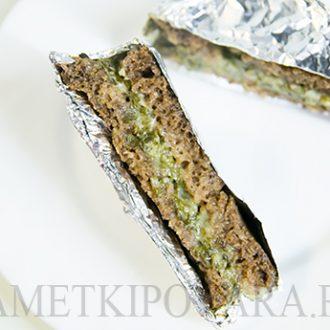 Запеченные сендвичи с сыром и щавелем