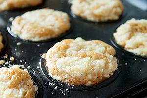 Яблочные кексы со штрейзелем