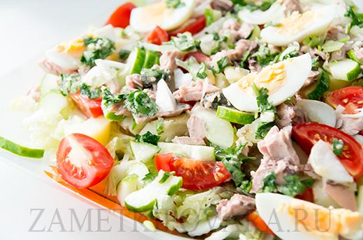нисуаз салат с тунцом рецепт с фото