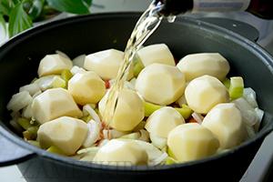 Армянская хашлама из баранины с картошкой