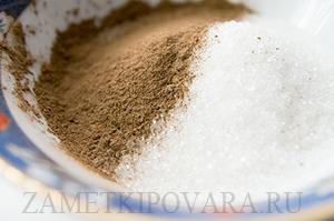 Кекс с корицей и сахаром