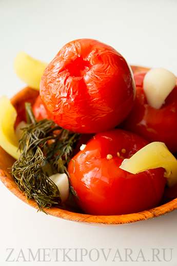 Быстрые квашенные помидоры