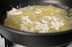 Паста со сладкой кукурузой в соусе Бешамель