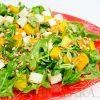 Салат с печеной тыквой и брынзой