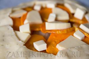Галета с тыквой и плавленным сыром