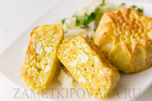 Несладкие сырники, запеченные в духовке