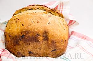 Сладкий хлеб с изюмом и орехами в хлебопечке