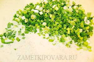 Овсяные оладьи с зеленым луком