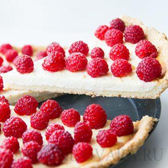 Творожный тарт с малиной