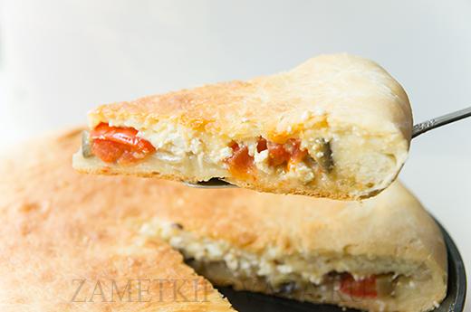 Пицца-стафф с баклажанами