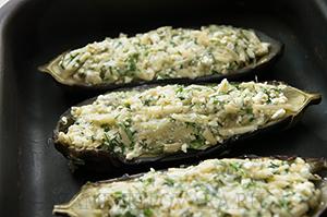 Кучерикас - запеченые баклажаны с сыром и творогом