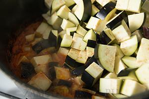 Салат кубанский с баклажанами и фасолью