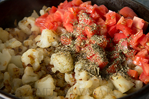 Киш-лорен с цветной капустой