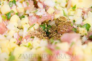 Ханум с курицей и картофелем