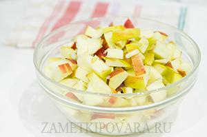 Кокосовые блины с яблоками