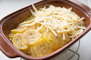 Картофельная запеканка с куриным филе
