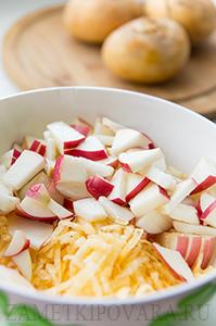 Салат с репой и яблоками