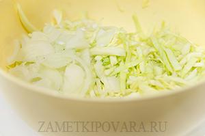 Шаурма с омлетом и капустой