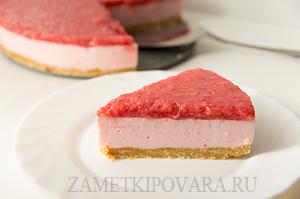 Йогуртовый торт с клубничным желе