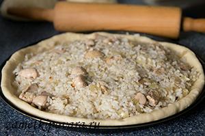 Пирог с рисом и молоками
