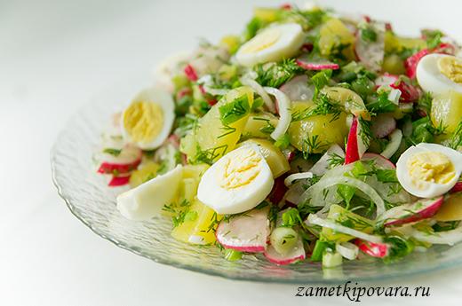Салат из картофеля с редисом